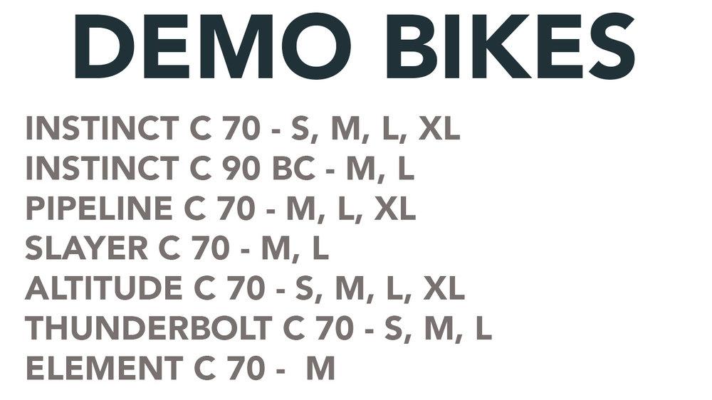 rocky mountain demo bikes