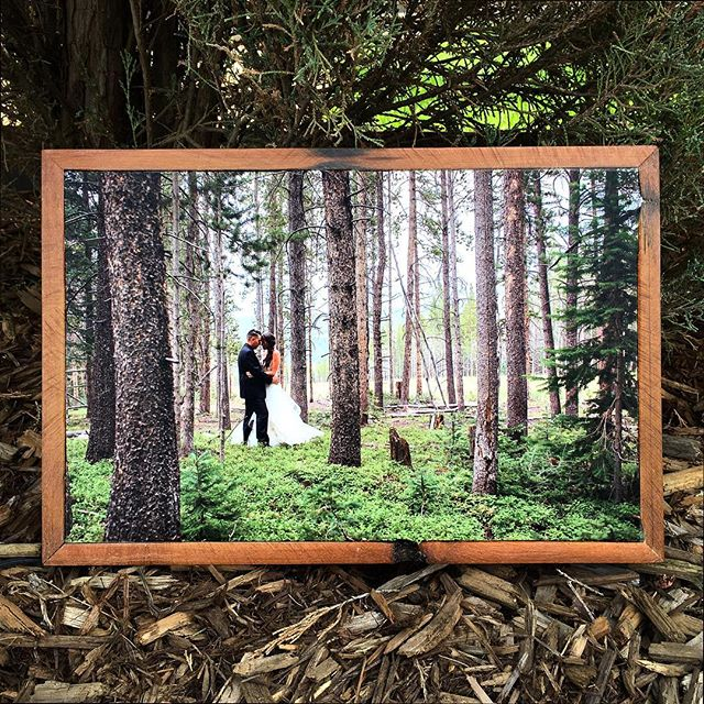 Loving this wedding shot on #stonepressprints ! #framedart  #weddingart  #gifts #photoframe  #reclaimedwood  #printed #bride
