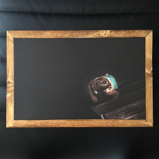 Love this  unique #portrait from @alisonwinterroth . Looks great on @stonepressprints #reclaimedwood #photography #photoframe #wallprints #printsonstone