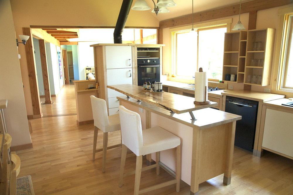 The Ikea kitchen.