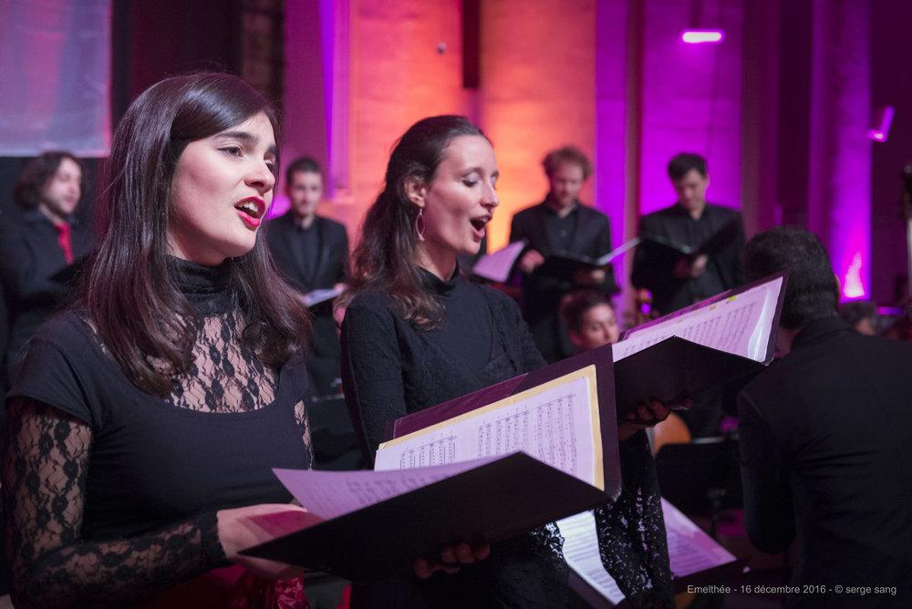 Photo : Serge Sang, avec Marie-Frédérique Girod (soprano)