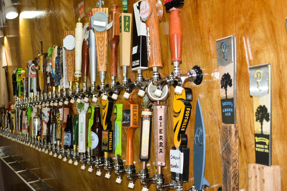 We offer 100 taps of great craft beer and 2 taps with non-alcoholic options.  Coming soon cold press coffee on nitro!