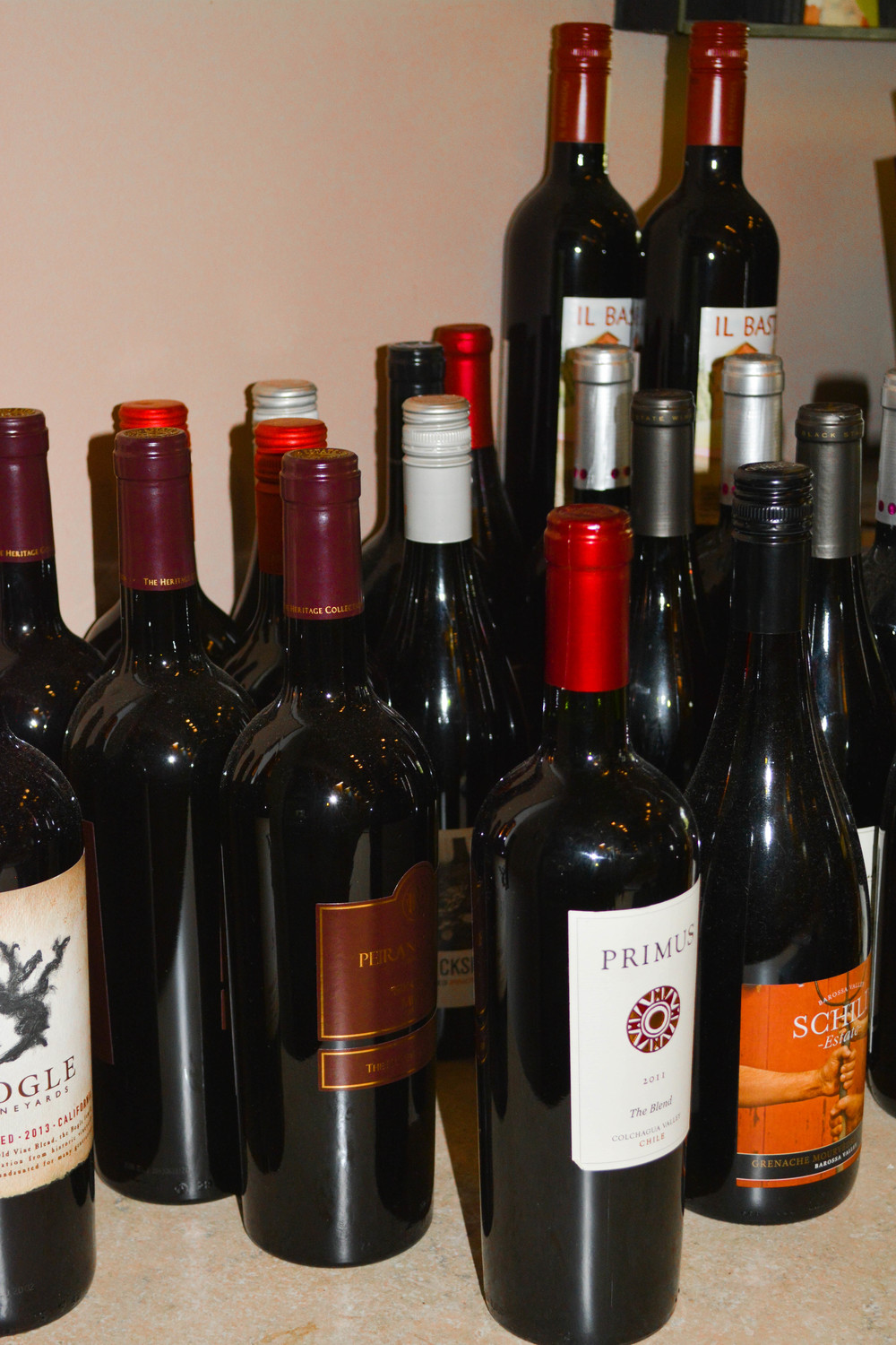 For our wine drinkers:  We've got a quality selection for you too