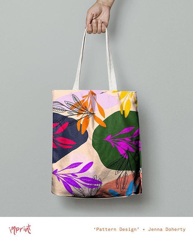 some pattern design by @madebyjenna_ ! 🍃🌼• see her work + more at #imprintexhibition2016 • Nov 25 - Dec 2 • #illustration #illustrate #illustrator #design #designer #graphicdesign #graphicdesigner #pattern #floral #summer