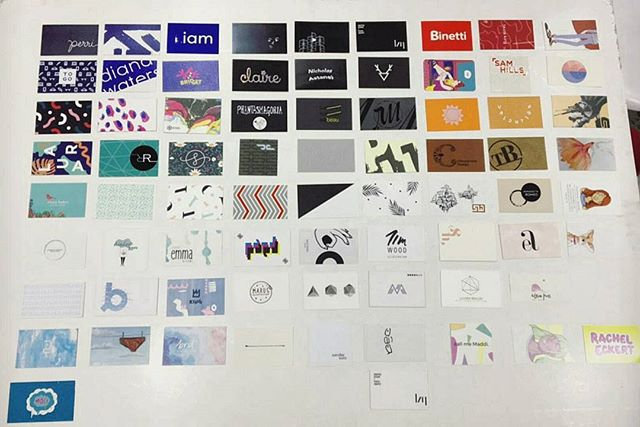 Another shot from @svlly  Everyone's business cards from #imprintexhibition2016