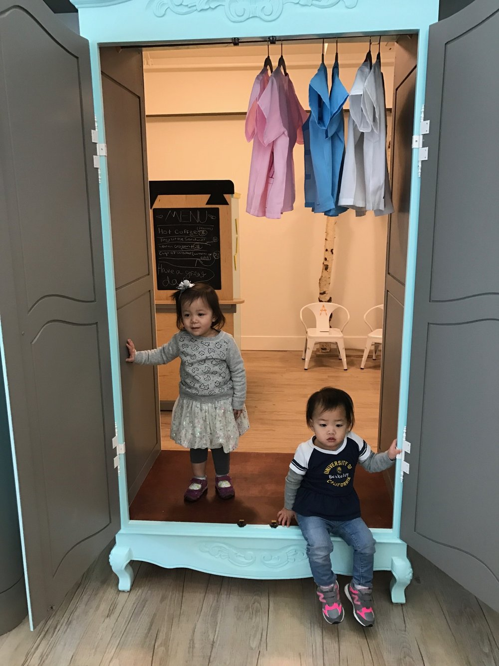hanging out in the armoire