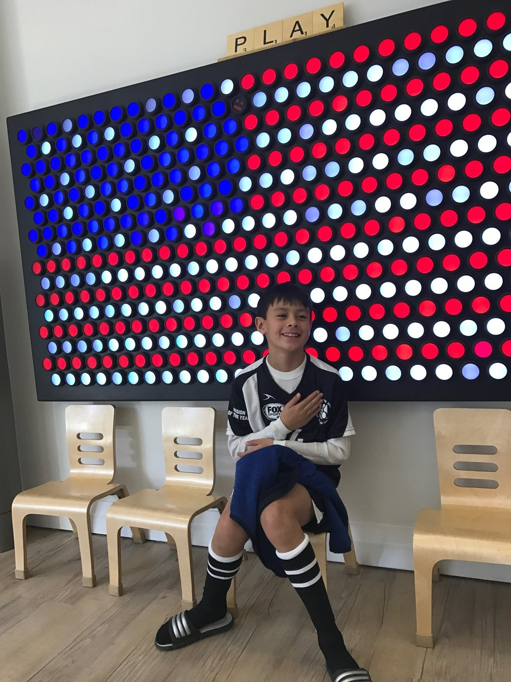 american flag creation by this guy on our Play-LED wall