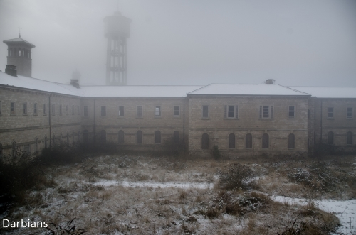 St Johns Asylum in the fog