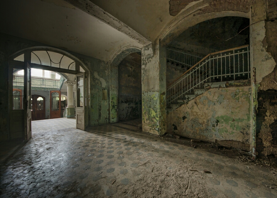 So much peeling paint in this abandoned hospital. It was hard to choose which image to use.