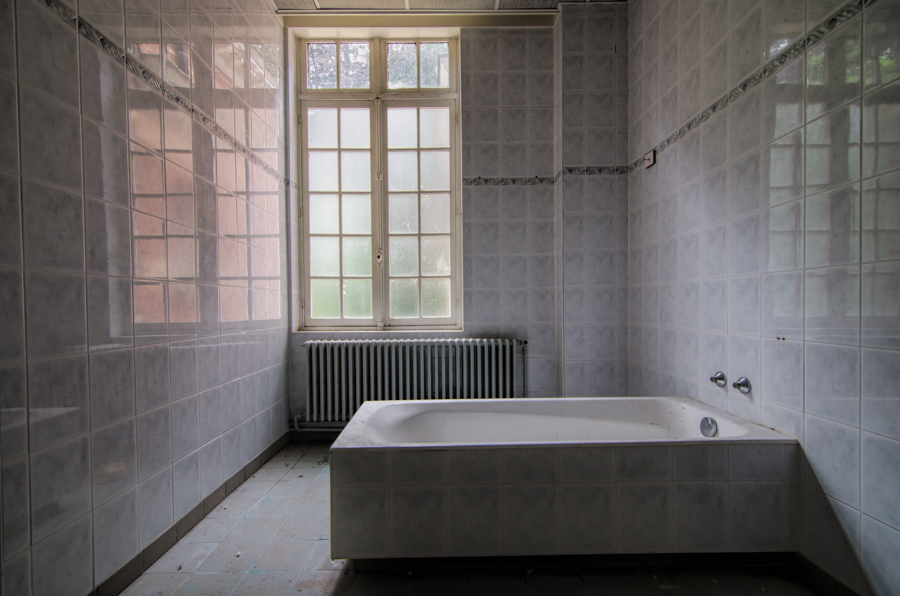The bathroom of an abandoned hospital in Belgium.