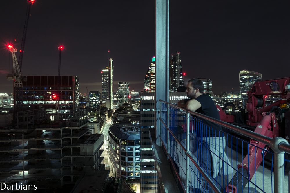 Urbex: Enjoying London views from a rooftop.