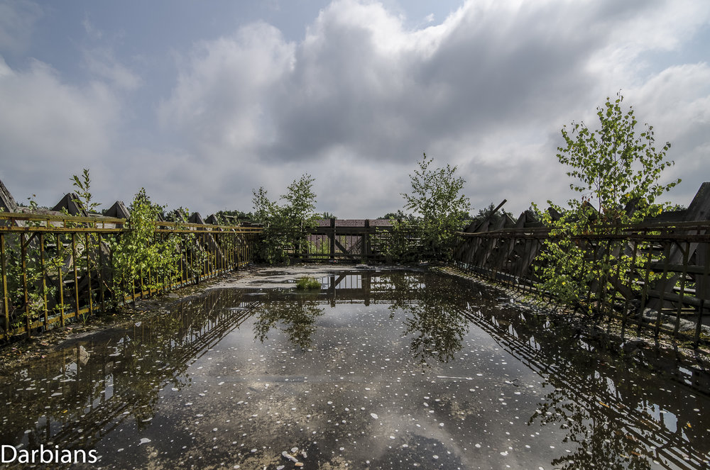 The staff terrace on the roof resembled a pool.