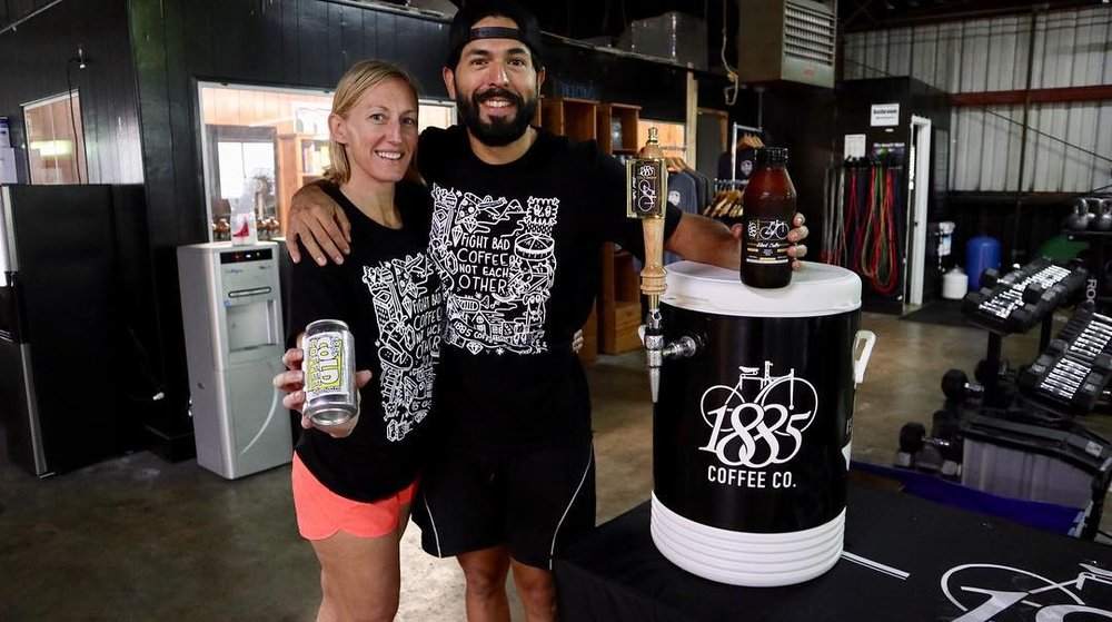 Our Molly and her boyfriend Jose stopped by Saturday to give out samples of their amazing nitro cold brew coffee. Remember to grab a can from the fridge next time you're in. $5 each and a can goes a long way (apparently drinking the whole thing is discouraged based on the gitteriness of the rest of my day).