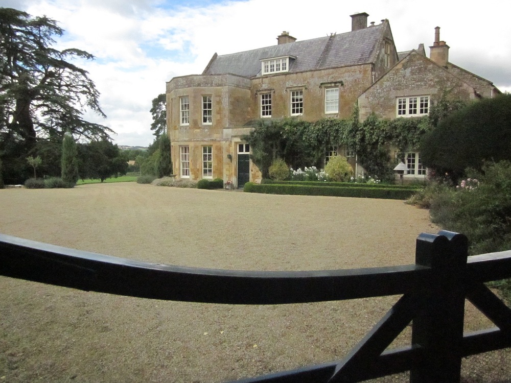 Adlestrop House.  Jane Austen stayed here in her relative's home, and visited the village often.  It is said that her time in Adlestrop inspired her writing in MANSFIELD PARK.