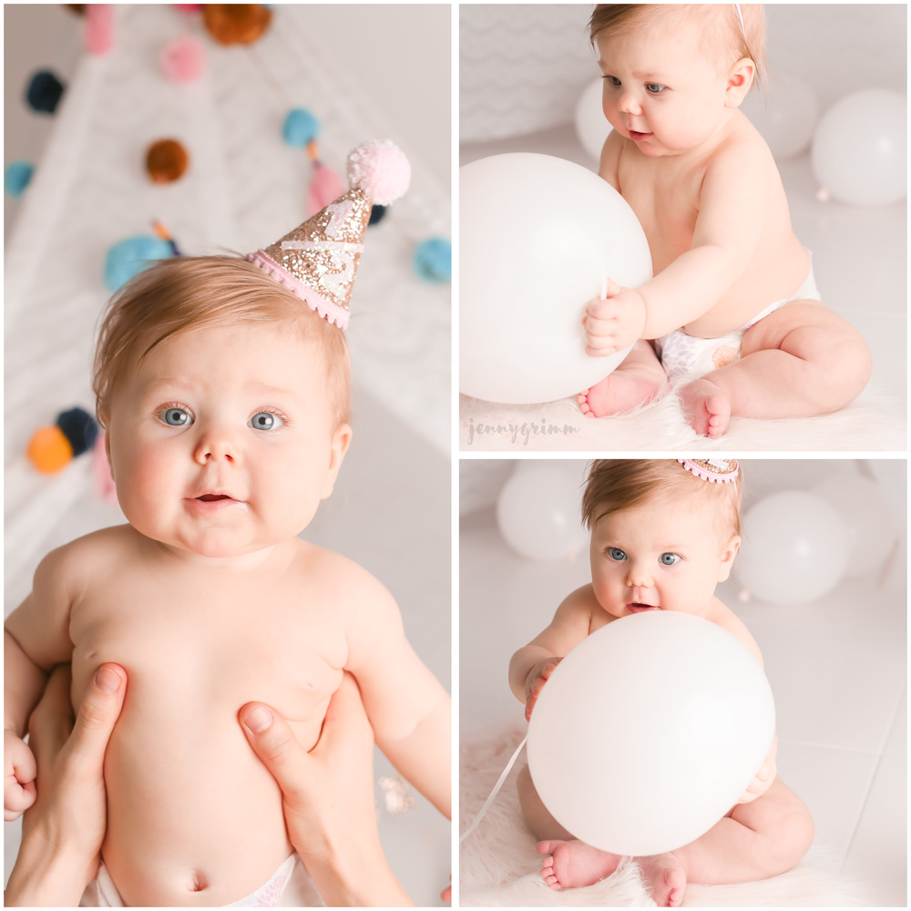 Half birthday baby portrait