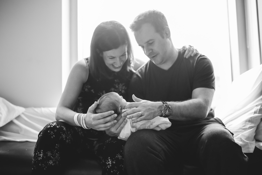 new parents at hospital