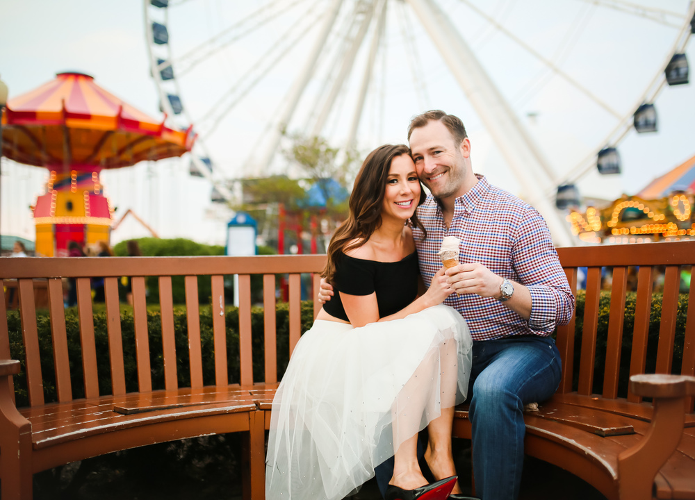 chicago navy pier engagement