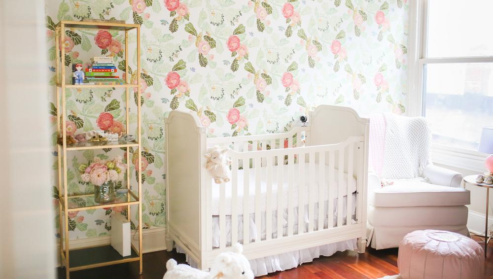 baby floral nursery