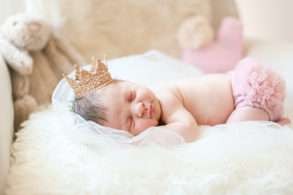pink newborn baby princess crown