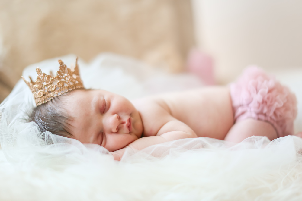 newborn princess baby girl