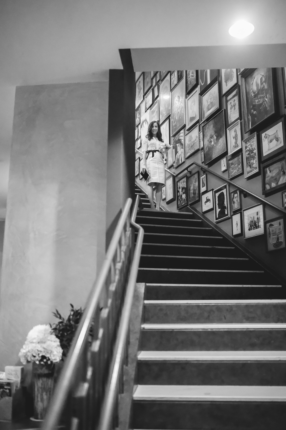 bride down hotel lincoln stairs