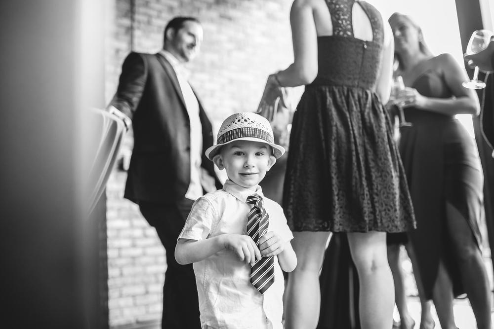 cute nephew in straw hat