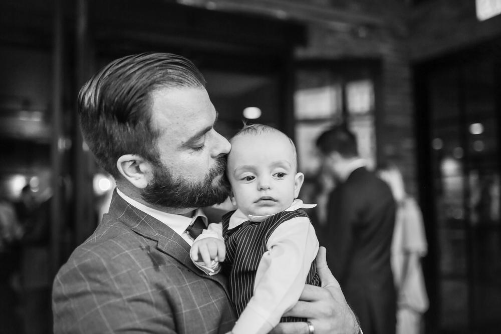 daddy son kiss