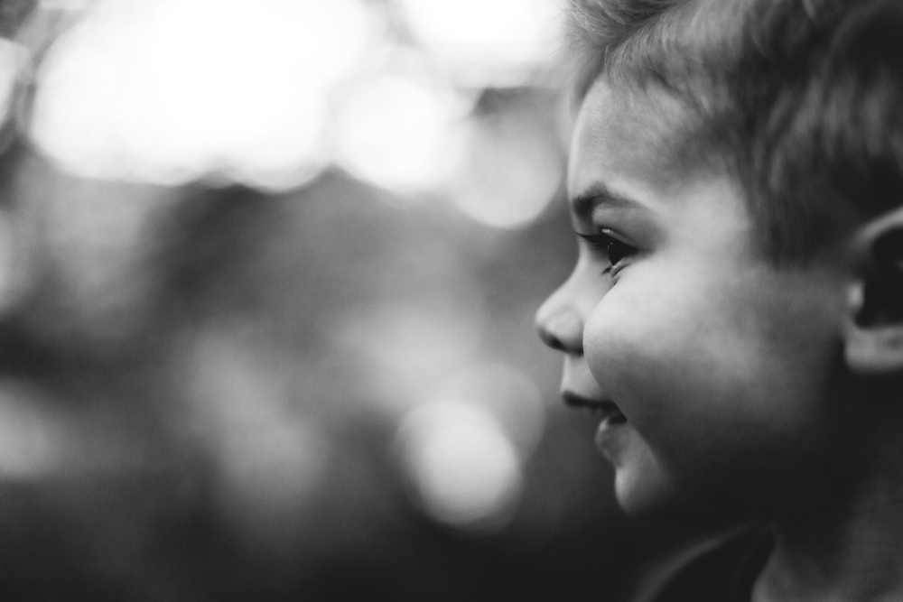 toddler profile portrait
