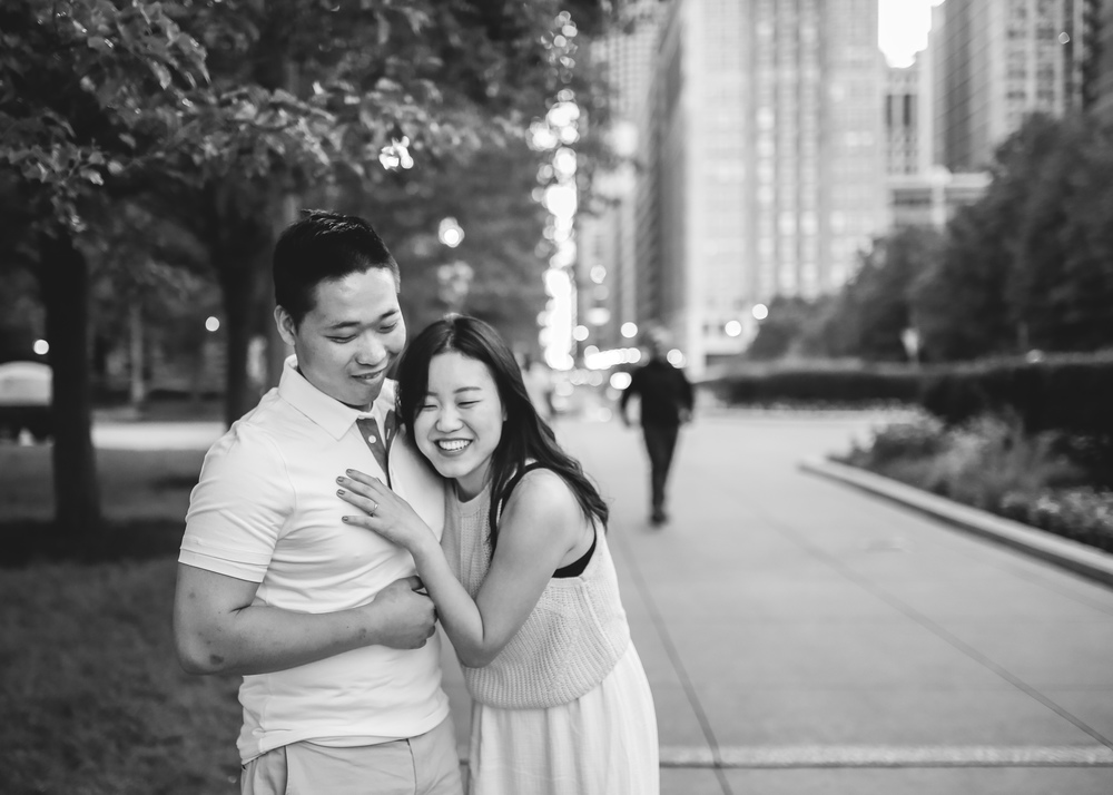 chicago couple love story downtown