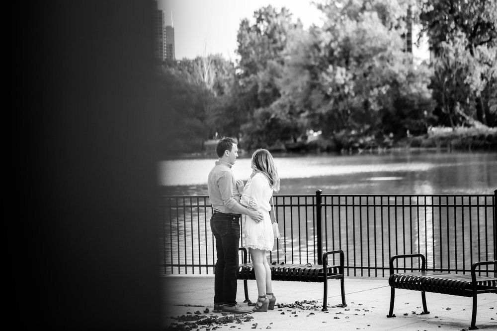 chicago proposal engagement session