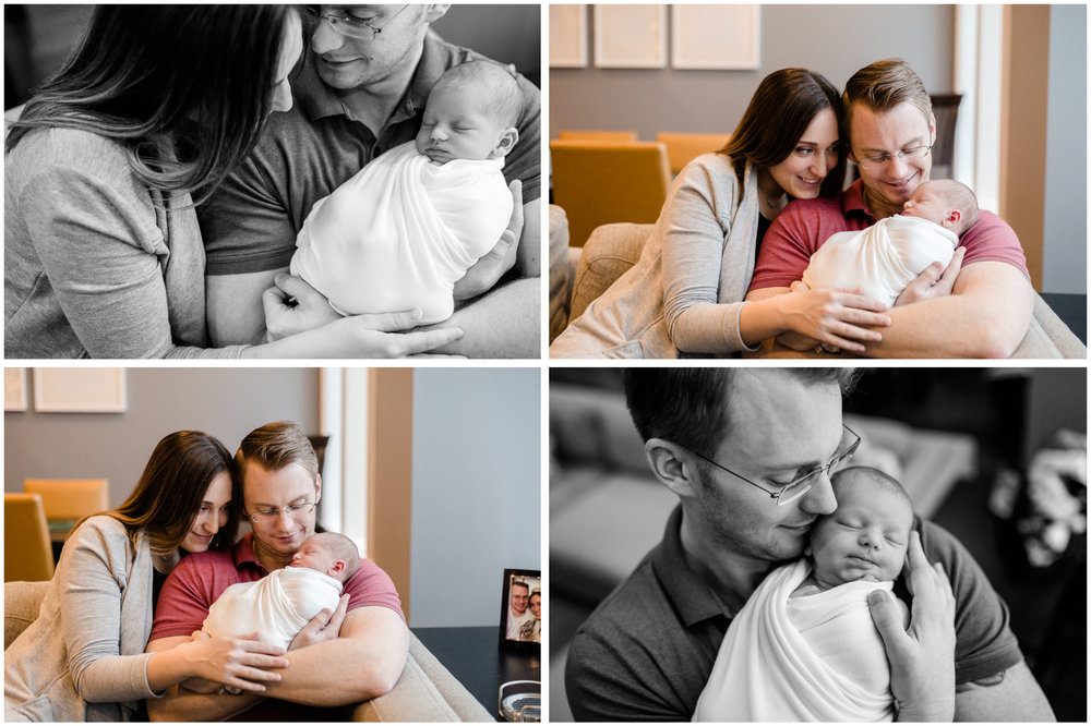 chicago newborn parents holding baby lifestyle photography jenny grimm