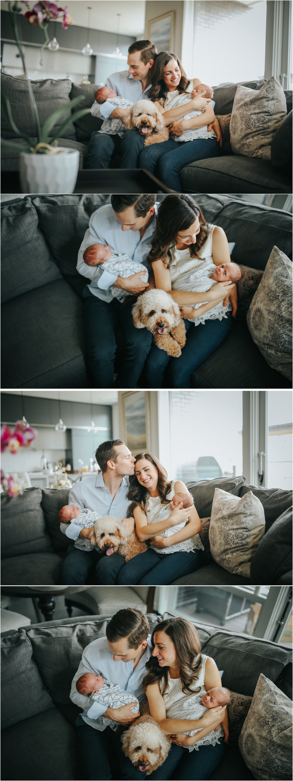chicago newborn twin lifestyle in home photographer jenny grimm