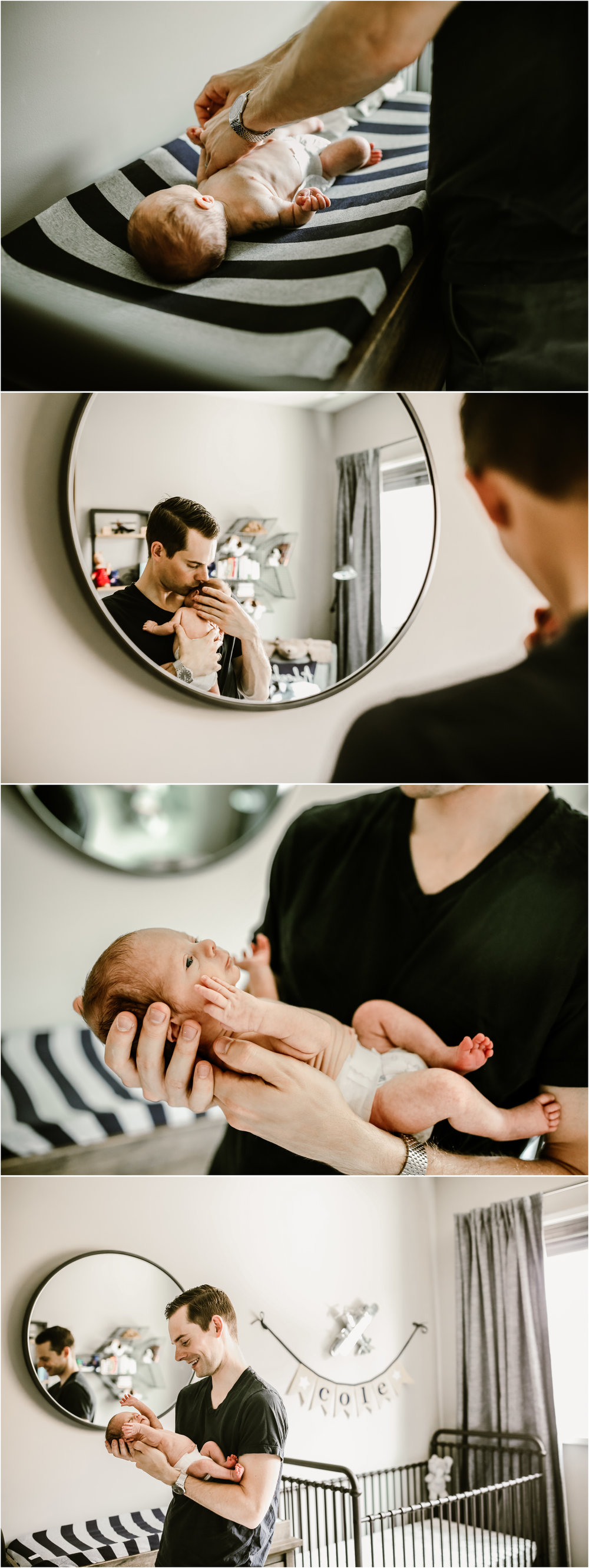 chicago newborn twin lifestyle photographer in home session jenny grimm