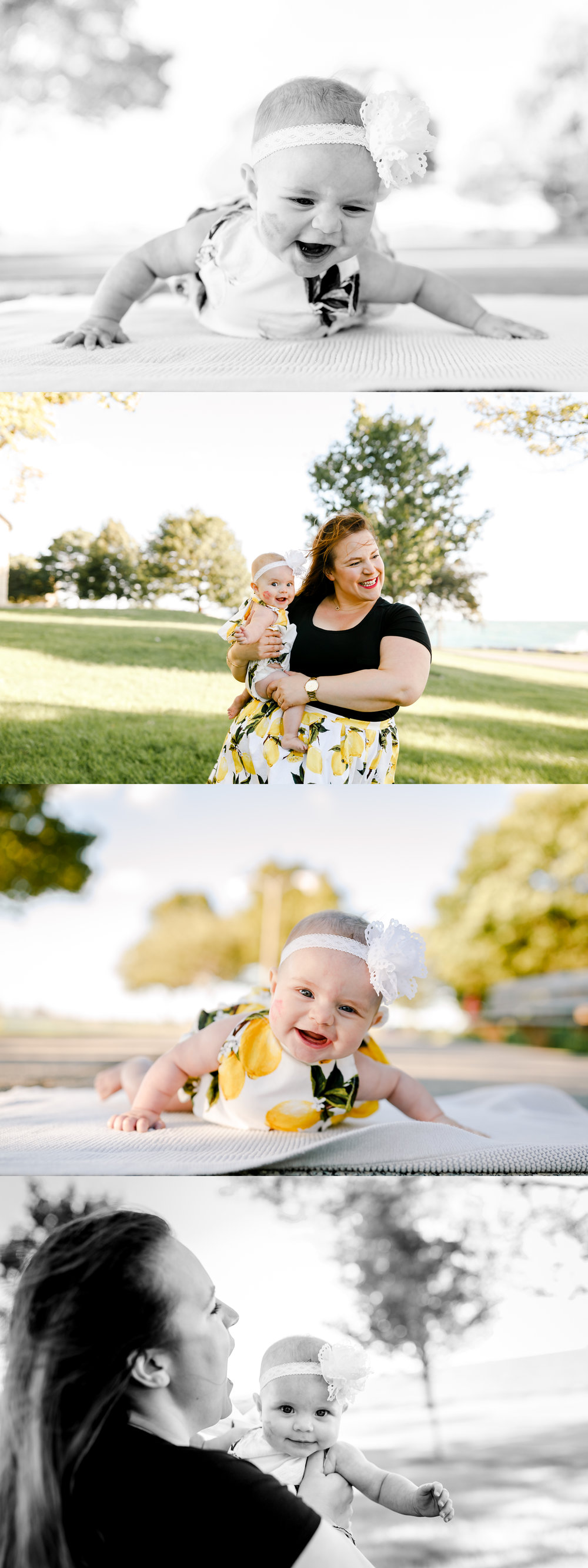 chicago family lifestyle summer baby lemon romper jenny grimm photography
