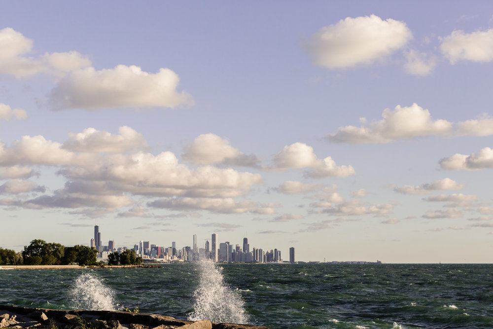 chicago promontory point skyline jenny grimm photography lifestyle photographer