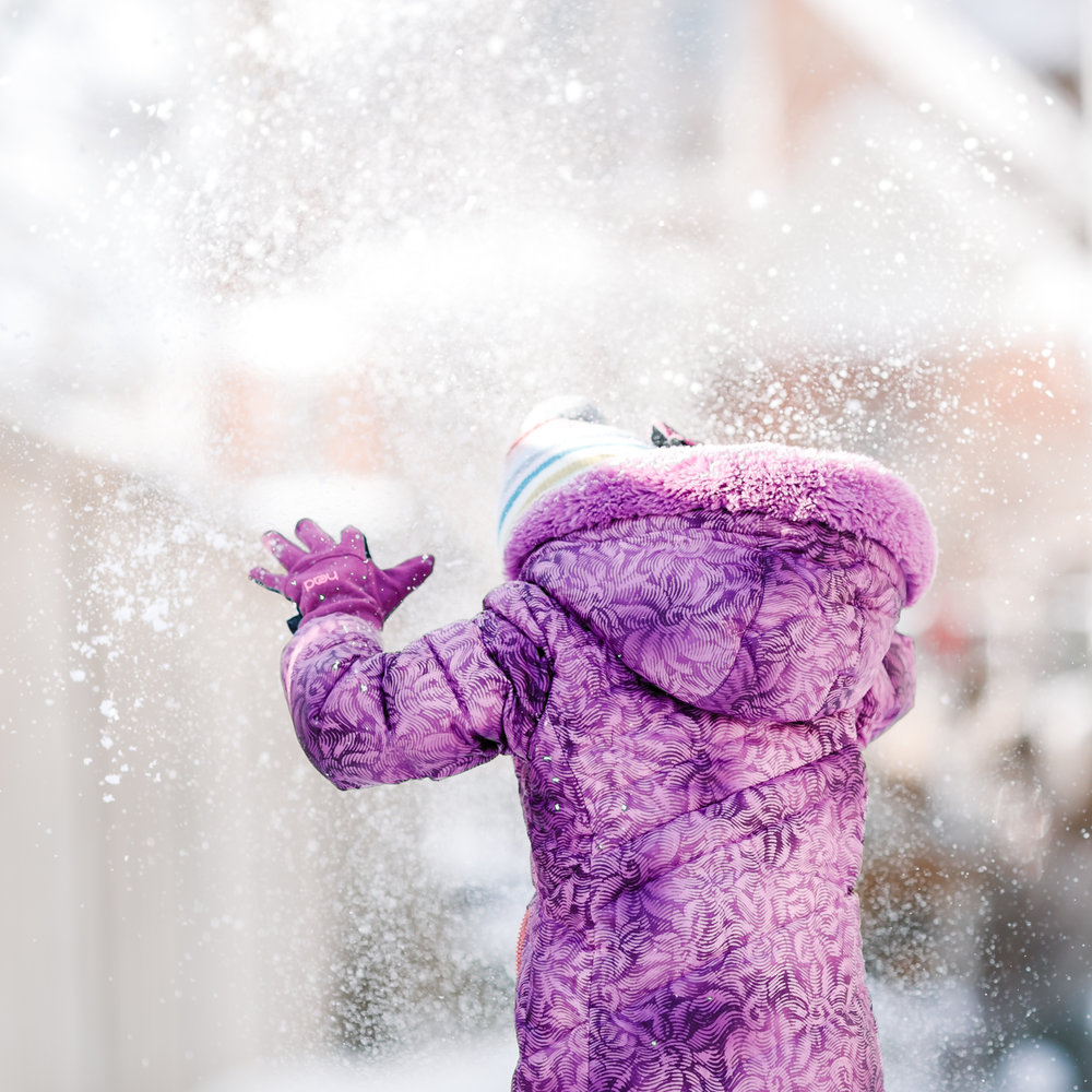 chicago snow flurries lifestyle photographer child jenny grimm