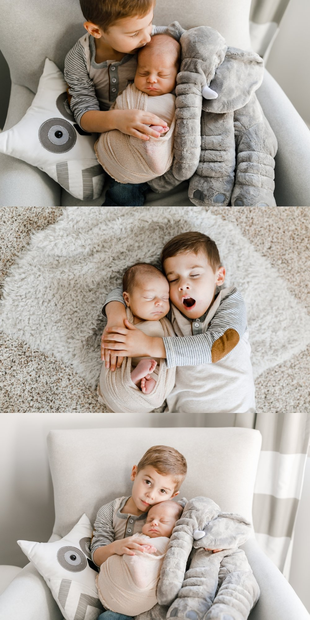 chicago newborn lifestyle photographer baby brother jenny grimm photography