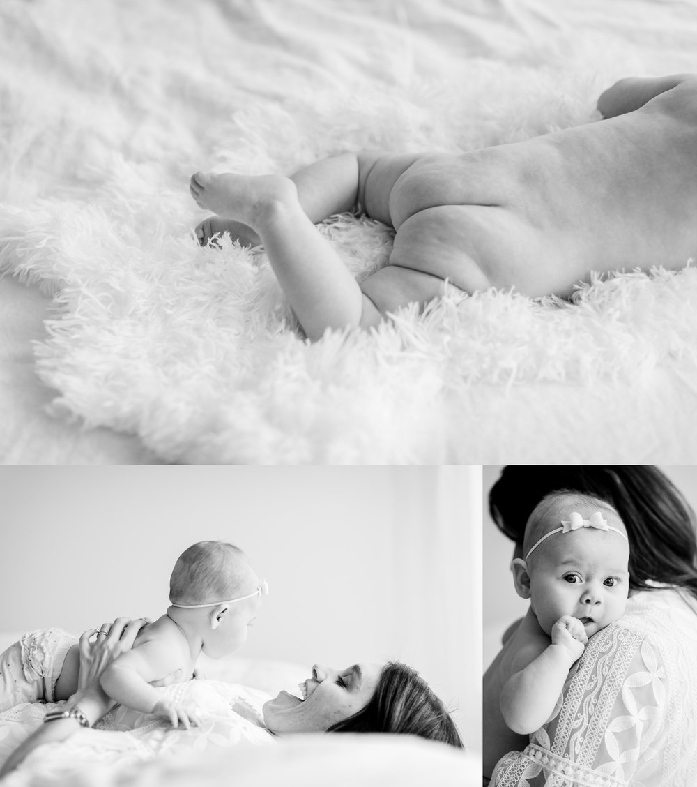 chicago lifestyle baby photographer jenny grimm simple studio milestone session
