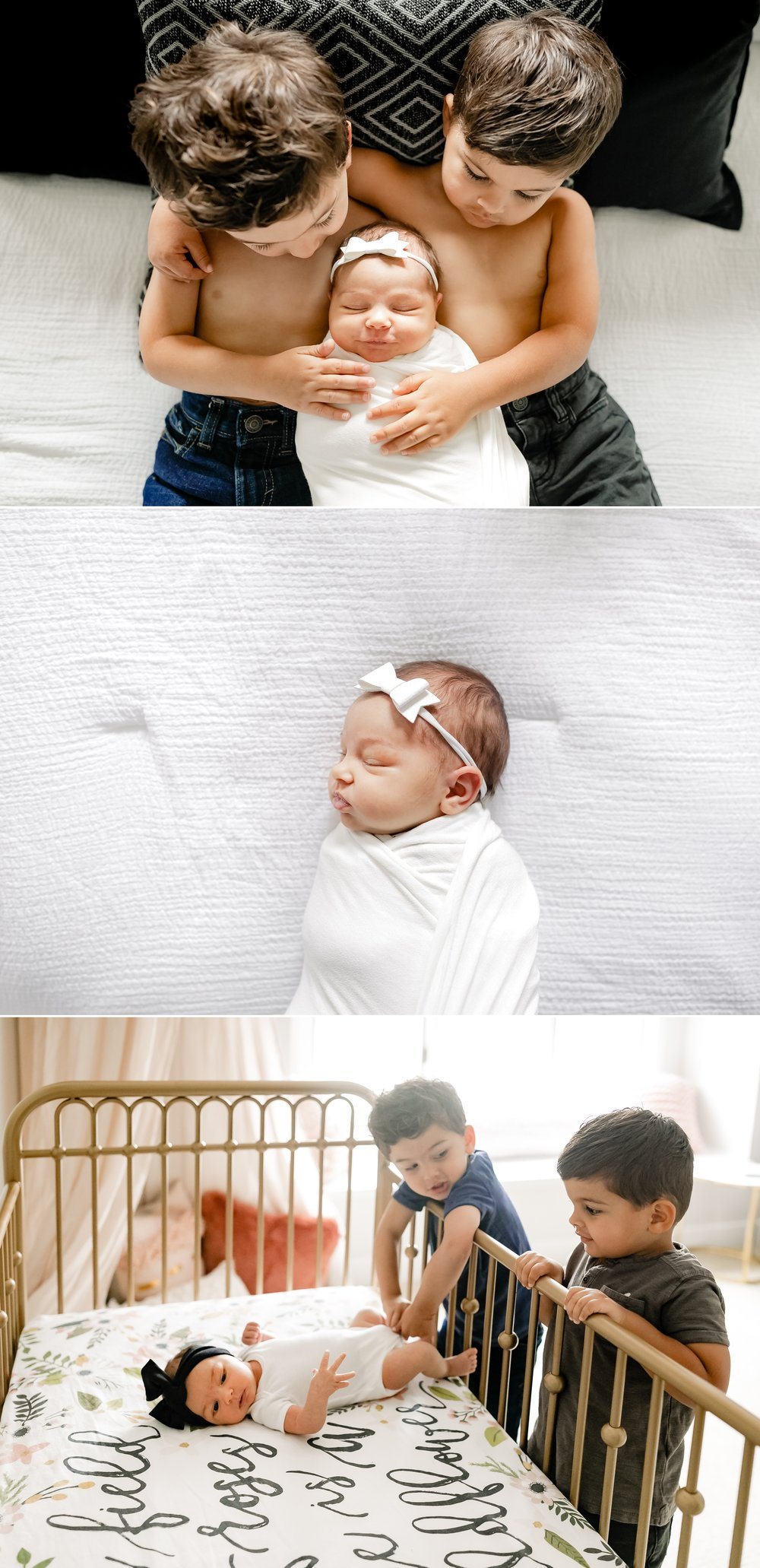 jenny grimm chicago newborn lifestyle family photographer twin boys little sister