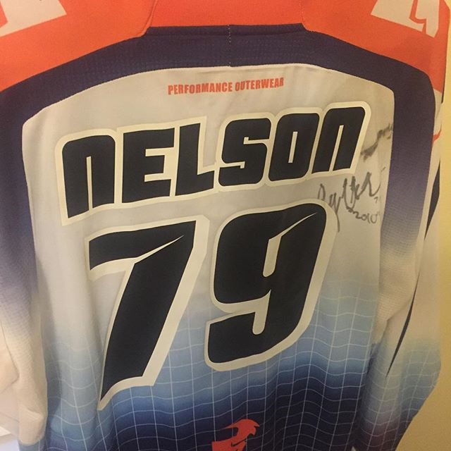 Not sure how long ago this was but a treasure found for sure @jessynelson13 you continue to be in our prayers. We will be auctioning this jersey off and all proceeds will be donated to @road2recovery  Stay tuned for details