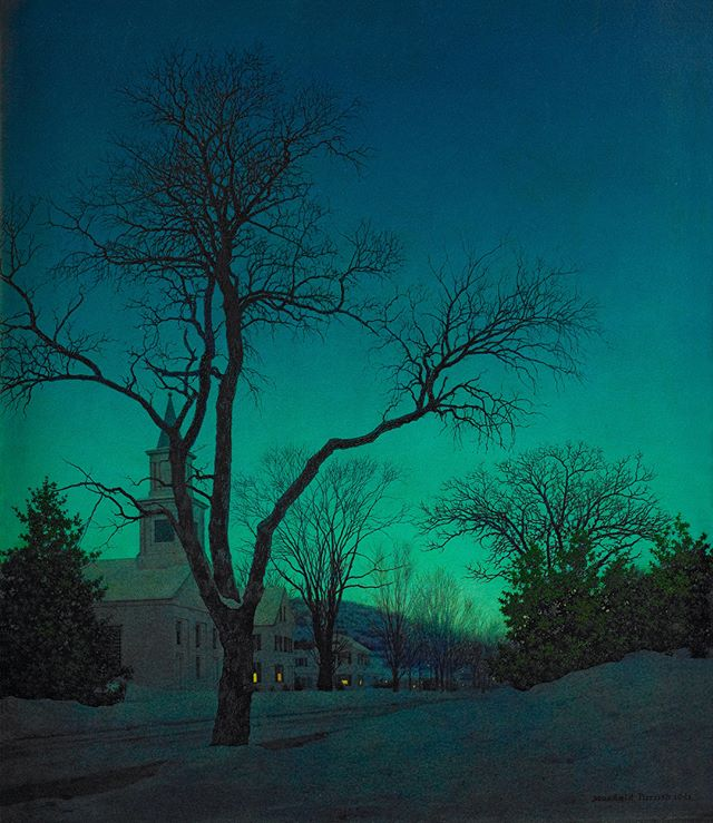 Maxfield Parrish At Close of Day, 1941 Oil on board