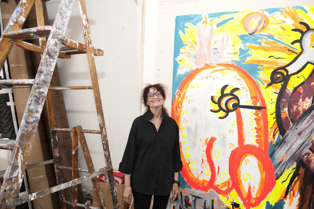 Judith Bernstein at her Chinatown studio.