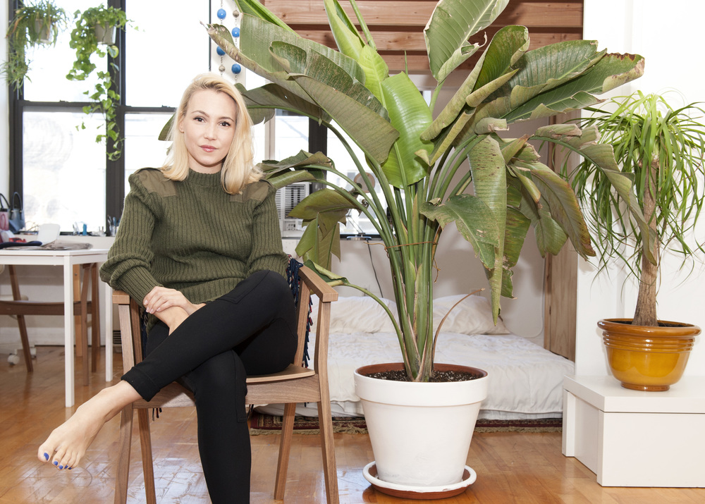 Alex Serio, executive creative director of Nameless, in her Bushwick home.