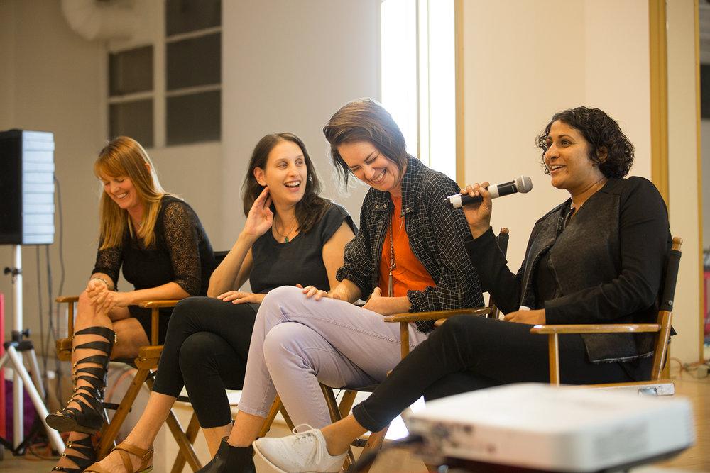 Congrats On Your Failure (l-r): Kippy Miller, Holly Schlesigner, Ann Friedman, Sarita Bhatt.