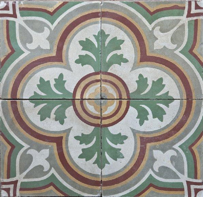RECLAIMED ORIGINAL ENCAUSTIC TILES