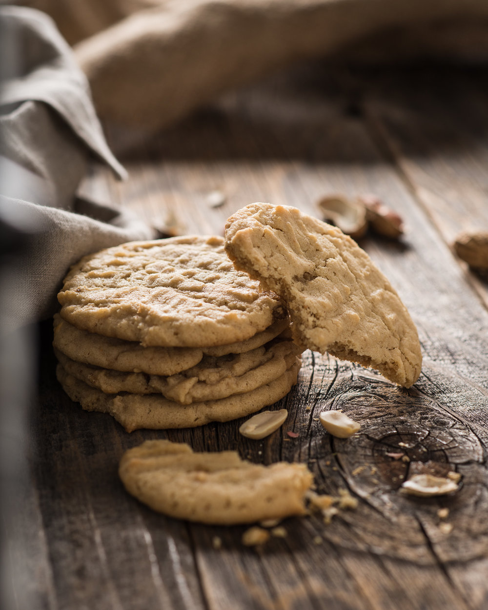 Peanut butter cookies photograph