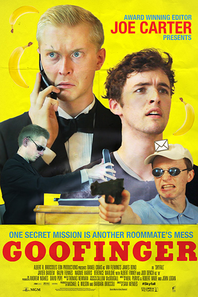 One secret mission is another roommate's mess in this chaotic, fast-paced comedy. Starring Andre Szarmach and Travis Holian, a misunderstood government agent is about to get his childlike roommate into a sticky situation. Will the rent be paid? Will someone die? The stakes are always high in GOOFINGER.