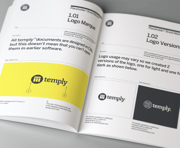 Brand manual template temply for Free brand guidelines template