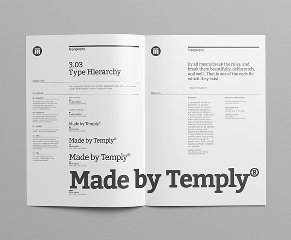 brand manual template temply