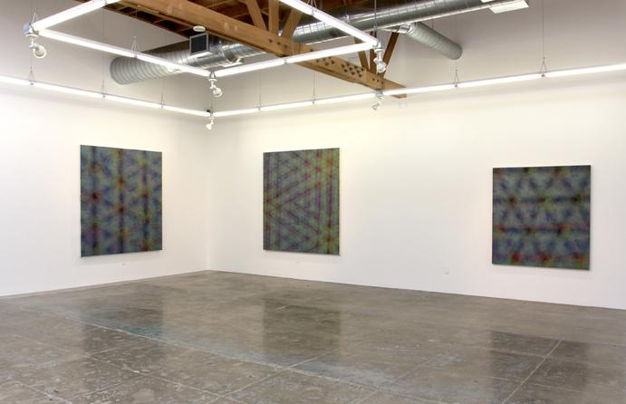 Installation view of Julie Opperman's exhibition at Mark Moore Gallery (My former employer in the 90s!)